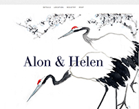 Web | Alon & Helen Stylish Wedding site