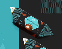 Дизайн фантика для конфеты Candy wrapper design