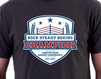 Apparel art for Rock Steady Boxing