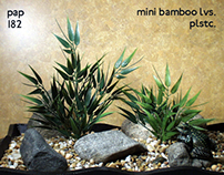 mini bamboo bush, plastic, 112012, ron beck designs