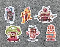 😀 Set of stickers 😀 Glossy finish, weatherproof.