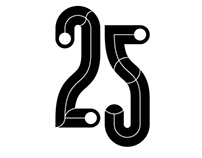 Submission for AIGA Seattle's 25th Anniversary Poster