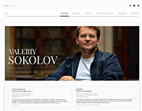 Website for violinist Valeriy Sokolov