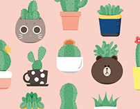 Pots and Cactus