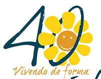 Logotipo 40 anos APAE