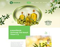 Karagönler Zeytin Yağı Prina Fabrikası Web Tasarımı