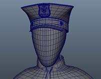 3D Cop Bust Character