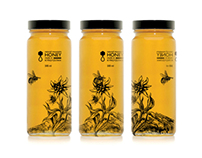 Honey packaging design concept