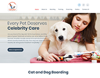 Pet Care Web Template Design (Client Work)