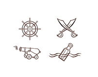 Pirate Icons and Banners