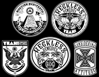 YEAH! Reckless Remedies graphic symbol compilation