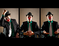 Autoportrait - clown nez rouge