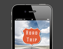Road Trip Application Screens