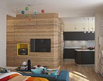 Modern apartment in St. Petersburg, 2013. S68 m2