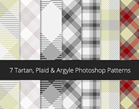 7 Tartan, Plaid & Argyle Photoshop patterns