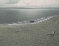 Space design of the coast at Warta River in Poznań
