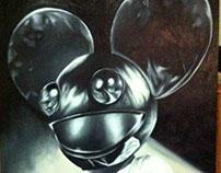 Deadmau5 Oil Painting