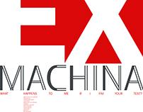 Формальные кино-плакаты к фильму EX MACHINA
