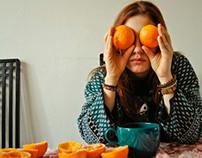 Self portrait (with oranges)