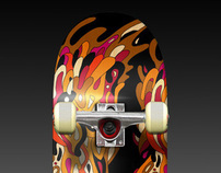 """Flying colours n°4"" custom deck"