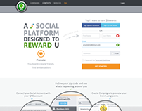 Qme Signup Landing page design