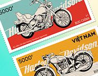 Stamp Harley Davidson