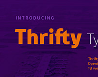 New: Thrifty typeface