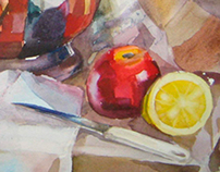 water-colour still life