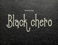 black chero font