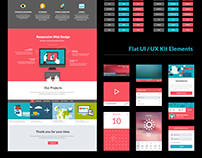 One Page Website - Flat UI