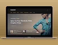 Fashiony trendy blog design