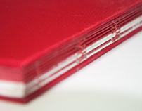 《关于红色的自述》手工装订