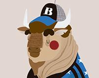B de Búfalo americano.