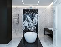 Contrast design of bathroom OKO tower