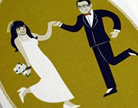 Tyla and Bruce Wedding Invitation