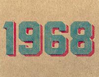Vintage 1968 Print