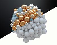 C4D Abstract Spheres 2 - Cinema 4D Tutorial ⭐