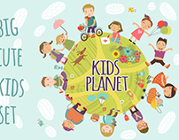 Kids planet. Vector set