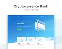 Virrex Cryptocurrency Digital Bank- Website Design
