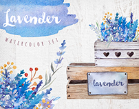 Lavender watercolor DIY