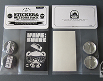 Vive le Sucre Sticker and Buttons Pack