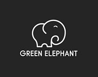 GreenElephant Logo Design