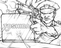 "Toshiba ""Tough"" Campaign - concepts"
