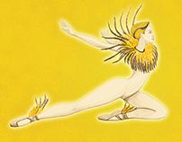 Gold Finch Ballerina