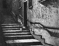 Old town alley | Etching