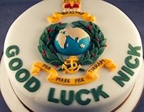 Royal Marines 'Good Luck' Cake