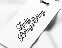 Lady Bling Bling Custom Lettering Logo Design