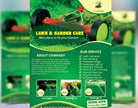 Garden Landscape Flyer Design