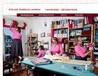 Webdesign & photo - siteHTML pour Isabelle Lacroix