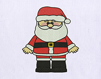 Christmas Santa Claus Embroidery Design